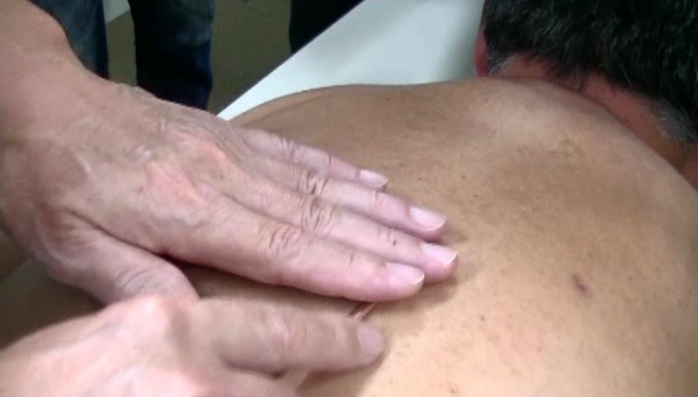 面に対する鍼法(滑気鍼法)